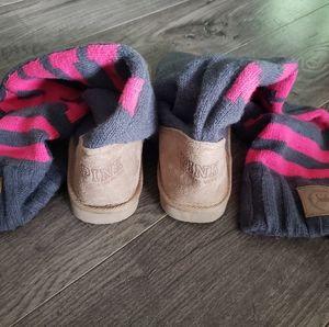 Victoria Secret PINK Mukluk sweater boot.